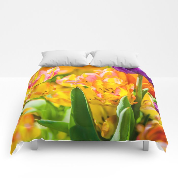 Tulips Enchanting 01 Comforters
