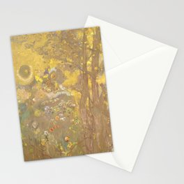"""Odilon Redon """"Trees on a yellow Background"""" Stationery Cards"""