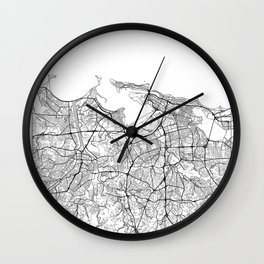 San Juan Map White Wall Clock