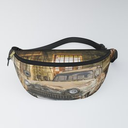 Old Car in a Garage Fanny Pack