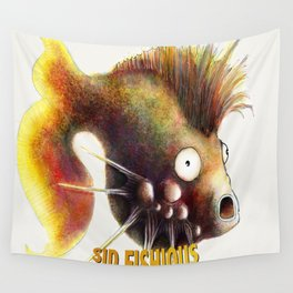 Sid Fishious with name Wall Tapestry