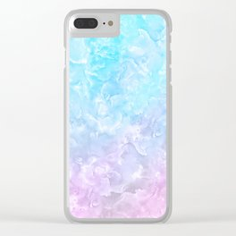 Pastel Scaly Marble Texture Clear iPhone Case