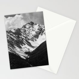 Black and White Canadian Rockies Stationery Cards