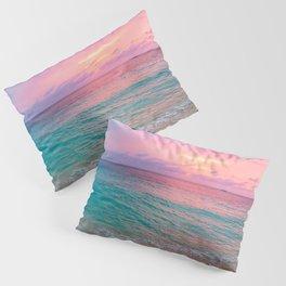 Aerial Photography Beautiful: Turquoise Sunset Relaxing, Peaceful, Coastal Seashore Pillow Sham