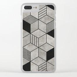 Concrete Cubes 2 Clear iPhone Case
