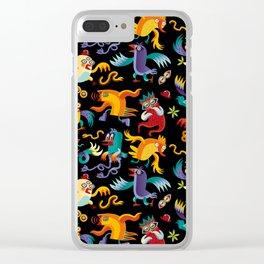 Noisy Birds Clear iPhone Case
