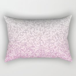 Silver and Pink Glitter Ombre Rectangular Pillow