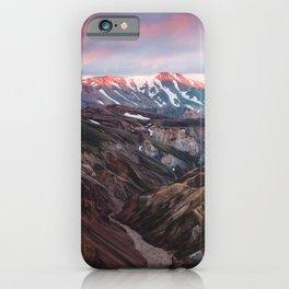Multicoloured Hills of Landmannalaugar, Iceland iPhone Case