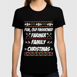 Christmas T-Shirt Farmer Family Christmas Tee Cute Xmas Gift T-shirt