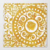damask Canvas Prints featuring Damask by studioDarcy