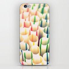 Stripes & Straws iPhone & iPod Skin
