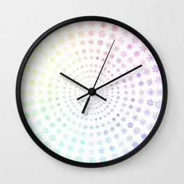 Three-hundred and ninety-six snowflakes Wall Clock