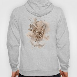 Watercolor Sphynx (Sepia/Coffee stain) Hoody