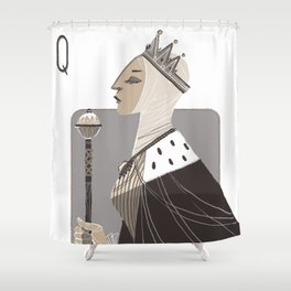 Queen E. Shower Curtain