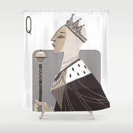 Queen E. Shower Curtain