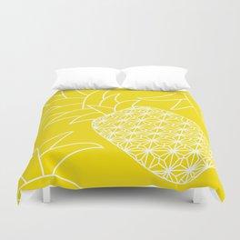 Ananas yellow Duvet Cover