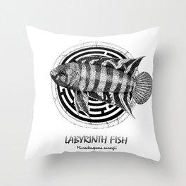 Microctenopoma ansorgii Throw Pillow