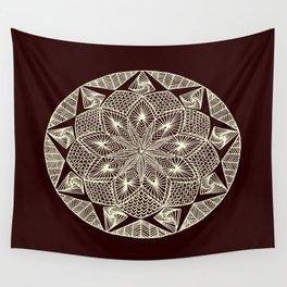 Maroon Mandala Wall Tapestry