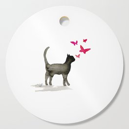 I Love Cats No. 3a by Kathy Morton Stanion Cutting Board