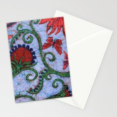 Floral Batik Stationery Cards