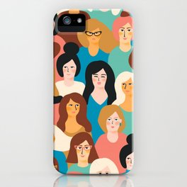 CUTE ALL-OVER WOMENS MARCH PATTERN iPhone Case