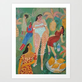 By the lemon tree Art Print