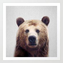 Bear - Colorful Art Print