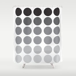 Monochrome Grey Circles Shower Curtain