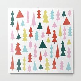 Holiday Trees Metal Print
