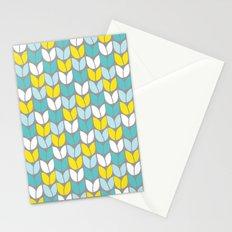 Tulip Knit (Aqua Gray Yellow) Stationery Cards