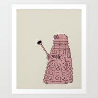 dalek Art Prints featuring Dalek by Luke Spicer