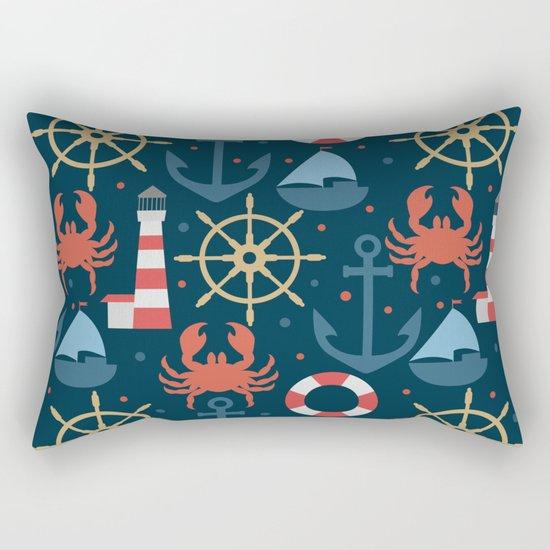 Sea blue pattern Rectangular Pillow