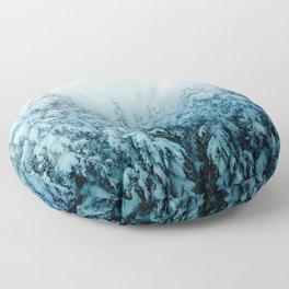 Winter Forest Floor Pillow