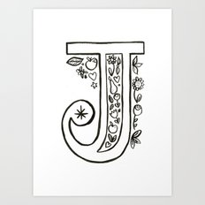 j is for Art Print