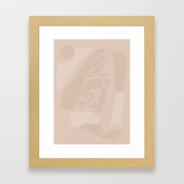 Nude large abstract painting Framed Art Print
