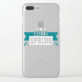 "Simple and nice tee design perfect gift this seasons of giving. Grab this ""Hello spring"" tee now!  Clear iPhone Case"