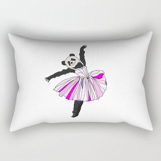Panda Bear Ballerina Tutu Rectangular Pillow