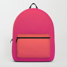 Coral Bright Pink Ombre Gradient Pattern Orange Peachy Soft Trendy Texture Backpack