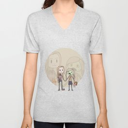 The walking dead Lizzie and Mik Unisex V-Neck
