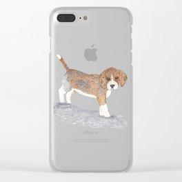 Beagle Puppy Clear iPhone Case