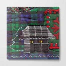 Christmas cabin Metal Print