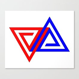 Halimessa - connected triangles Canvas Print