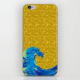 Hokusai Big Wave on Gold-leaf Screen iPhone Skin