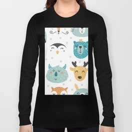 Baby Animals - Fantasy and Woodland Creatures Pattern Long Sleeve T-shirt