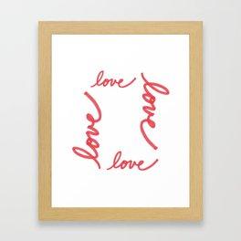 Love Makes The World Go 'Round Framed Art Print