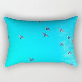 flock of birds Rectangular Pillow