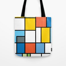 The Colors of / Mondrian Series - Simpsons Tote Bag
