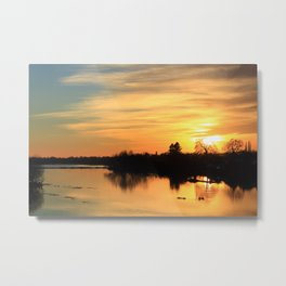 Floodplain at Sunset 3 Metal Print
