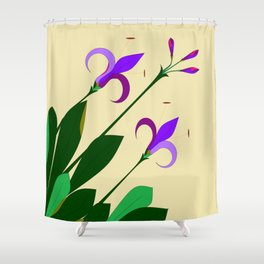 Lavenders and Violet Colored Lilies Shower Curtain