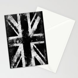 Black Grunge England flag Stationery Cards